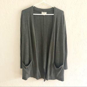 Anthro Lou & Grey Open Front Cardigan Pockets S